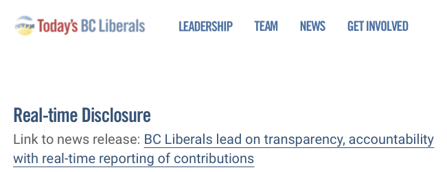 BC Liberals Screen Capture