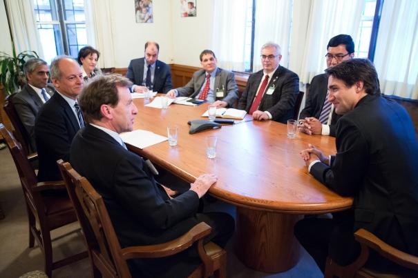 U15 with Prime Minister Trudeau